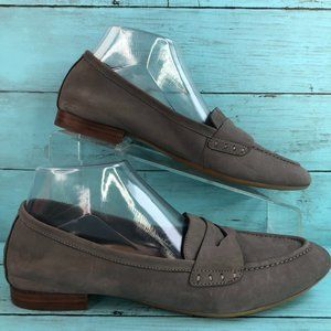 Aerosoles Map Out Gray Nubuck Leather Loafers